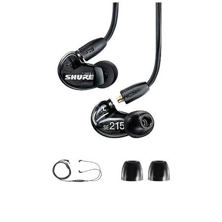 Shure SE Sound Isolating In Ear Stereo Earphones Translucent Bundle Shure CBL M K EFS iPhone iPod He 43 - 462