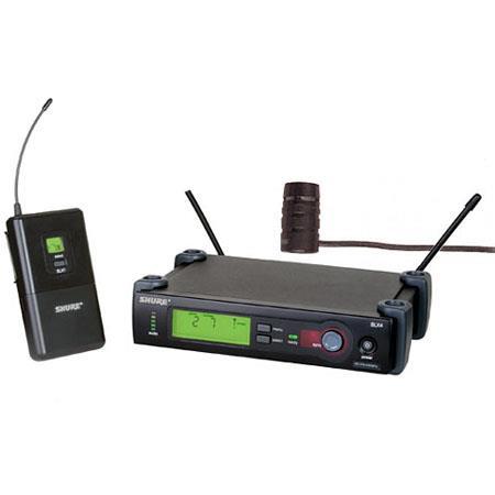 Shure SLX G Wireless Microphone System SLX Transmitter SLX Receiver WL Lavalier Microphone Band MHz  167 - 506