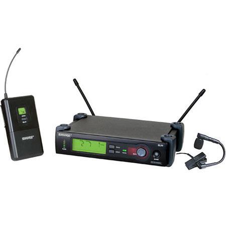 Shure SLXBETAH G SLX Series Wireless Microphone System Beta Cardioid Instrument Mic Band MHz 149 - 392