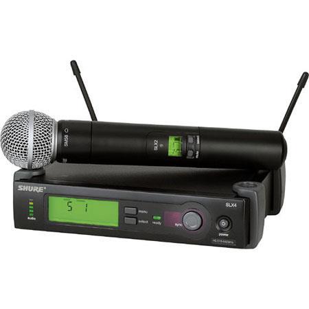 Shure SLXBETA J Wireless Microphone System J MHz Includes SLX Receiver SLX Handheld Transmitter and  259 - 294