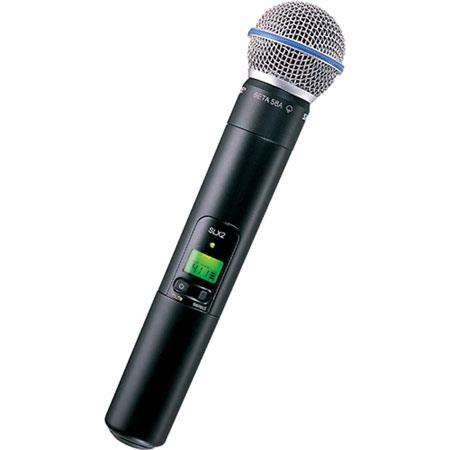 Shure SLXBETA G Handheld Wireless UHF Transmitter Beta A Microphone Band MHz 69 - 580