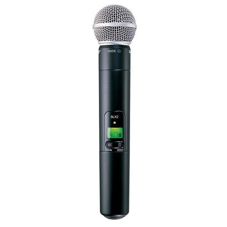 Shure SLXSM J Handheld Wireless UHF Transmitter SM Microphone J Band MHz 47 - 512