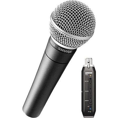 Shure SM XU Cardioid Dynamic Microphone XU XLR to USB Signal Adapter 124 - 52