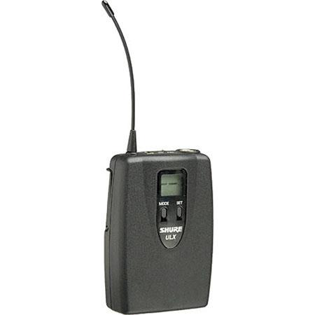 Shure ULX J Bodypack Transmitter TAF Mini pin Input Connector J Band MHz 126 - 251