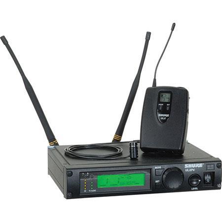 Shure ULXP G Wireless Lavalier Microphone System Includes ULXP Diversity Receiver ULX Bodypack Trans 106 - 104