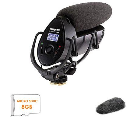 Shure VPF LensHopper Condenser Microphone Bundle Shure A FUR Fur Windjammer Includes FREE GB Class m 53 - 138