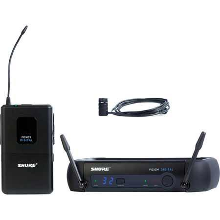 Shure PGXD Digital Wireless Lavalier System WL Lavalier Microphone MHz Band 238 - 525