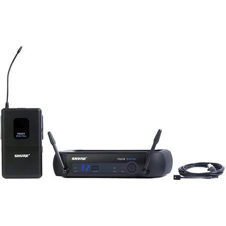 Shure PGXD Digital Wireless Lavalier System WL Lavalier Microphone MHz Band 93 - 208