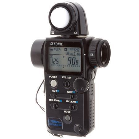 Sekonic L Cine DigitalMaster Programmable Ambient Flash Digital Exposure Meter Cinematographers Stil 82 - 648