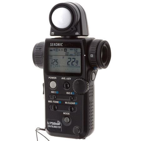 Sekonic L DR DigitalMaster Programmable Digital Flash Ambient Exposure Meter 216 - 433