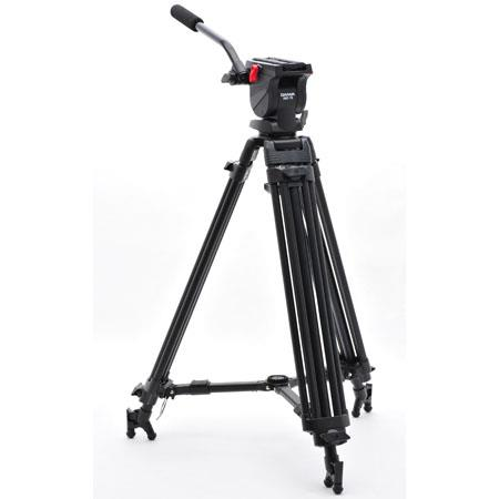 Slik Daiwa DST Broadcast Aluminum Stage Video Tripod System Fluid Head Ball Mount Maximum Height Sup 134 - 69