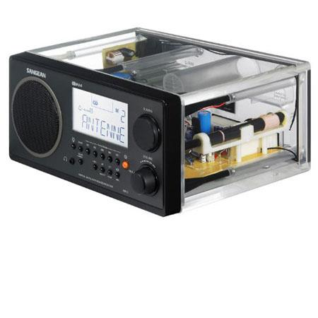 Sangean FM Stereo RBDS AM Digital Tuning Portable Receiver Clear Cabinet Institutional Model No Alar 99 - 639
