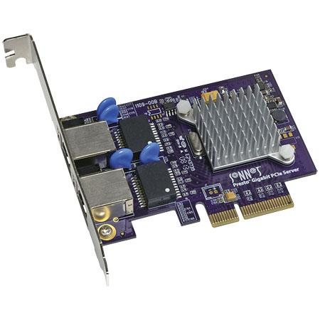 Sonnet Presto Gigabit Ethernet Server Port PCIe Card Supports Jumbo Packets and Link Aggregation 26 - 335