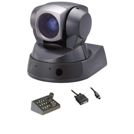 Sony EVI D CCD Pan Tilt Zoom Remote Control Communications Camera Bundle CP ITV B Telemetrics Joysti 98 - 90