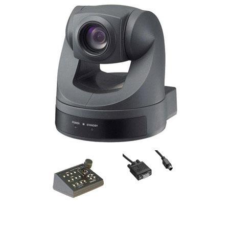 Sony EVI D CCD Pan Tilt Zoom Color NTSC Video Camera Bundle Sony CP ITV S Telemetrics Joystick PTZ C 233 - 167