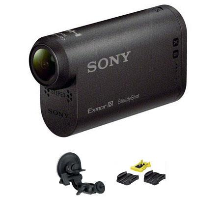 Sony HDR AS HD Action Camcorder Bundle Sony PF VCT SC Suction Cup Mount VCT AM Adhesive Mount Pack 291 - 446