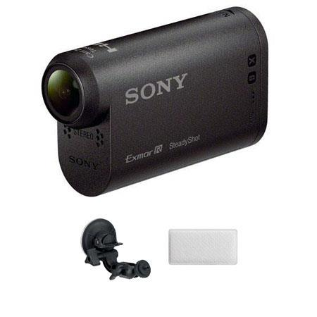Sony HDR AS HD Action Camcorder Bundle Sony PF VCT SC Suction Cup Mount AKA AF Anti Fog Insert 298 - 146