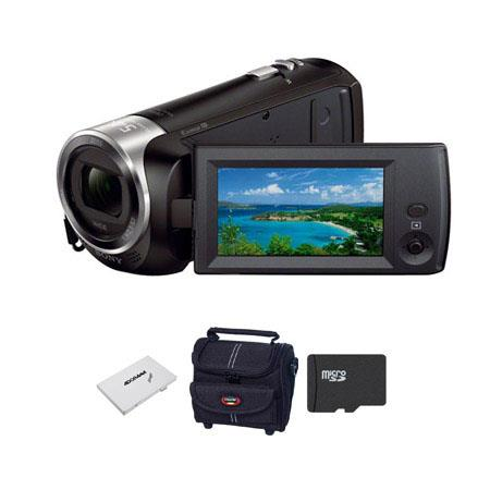 Sony HDR CX Full HD Handycam Camcorder Bundle Sandisk GB CLS UHS Micro SDHC Card Camcorder Case SD c 100 - 302