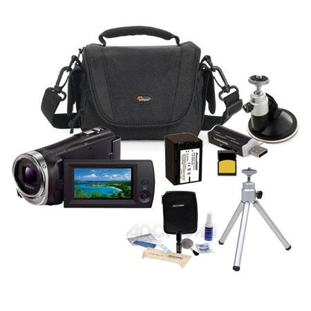 Sony HDR CX Full HD Handycam Camcorder Bundle GB Micro SDHC Card LowePro Carrying Case Spare High Ca 73 - 731