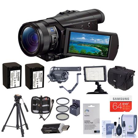 Sony HDR CX Full HD Camcorder CMOS Sensor Bundle LowePro Shoulder Case Lexar GB SDXC Card Spare NP F 86 - 574