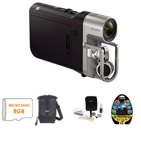 Sony HDR MV Full HD p Music Video Recorder Built In Wi Fi Bundle Sony GB Micro SDHC Memory Card Lowe 85 - 587