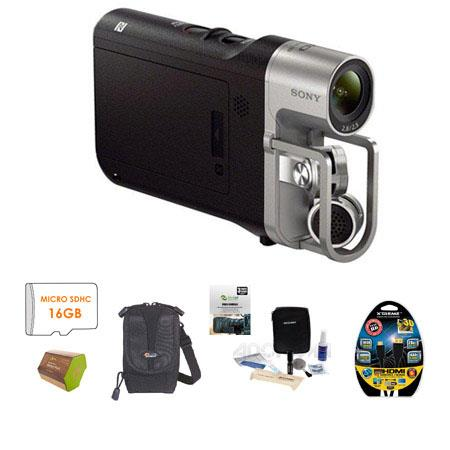 Sony HDR MV Full HD p Music Video Recorder Built In Wi Fi Bundle Sony GB Micro SDHC Memory Card Lowe 69 - 742