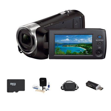 Sony HDR PJ GB Full HD Handycam Camcorder Built Projector Bundle Lowepro Carrying Case GB Micro SDHC 79 - 562