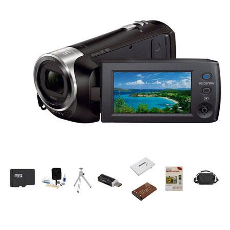 Sony HDR PJ GB Full HD Handycam Camcorder Built Projector Bundle Lowepro Carrying Case Sony GB Micro 56 - 8