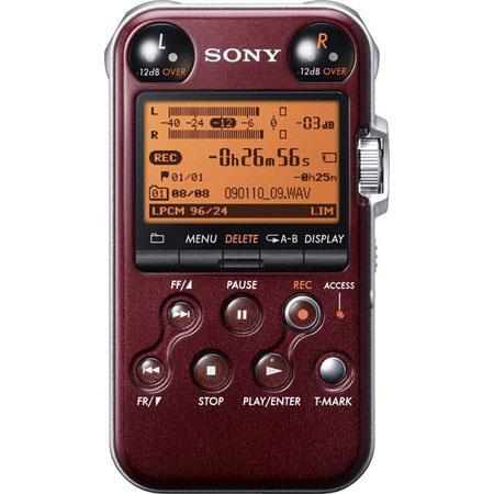 Sony PCM MR Portable Linear PCM Recorder kHz bit GB Memory USB High Speed Port Glossy 172 - 320