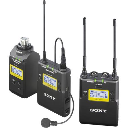 Sony UWP D Integrated Digital Plug on Lavalier Combo Wireless Microphone System UHF Channels or to o 16 - 472