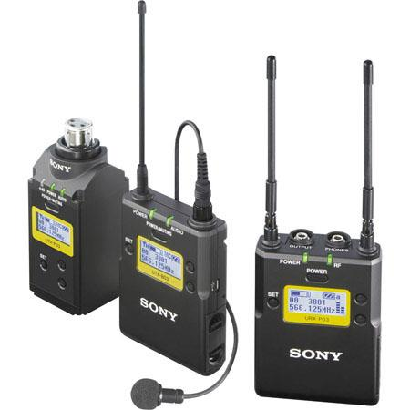 Sony Integrated Digital Plug on Lavalier Combo Wireless Mic System UHF Channels MHz Includes Receive 16 - 472