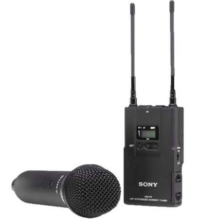 Sony UWPV Handheld Microphone TX and Portable RX Wireless System Operating on TV Channels to  214 - 229