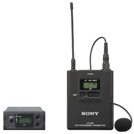 Sony UWPX Lavalier Microphone Bodypack Transmitter RX Module Wireless System Operating on TV Channel 214 - 229