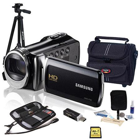 Samsung HMX F HD Camcorder Bundle Camera Case GB SDHC Card Lens Cleaning Kit LCD Screen Protector Al 57 - 508