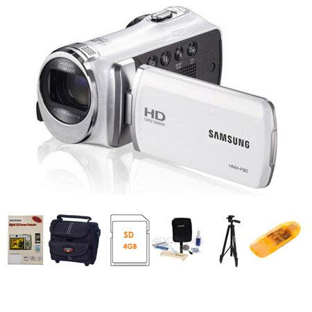 Samsung HMX F HD Camcorder Bundle Camera Case GB SDHC Card Lens Cleaning Kit LCD Screen Protector Al 33 - 601