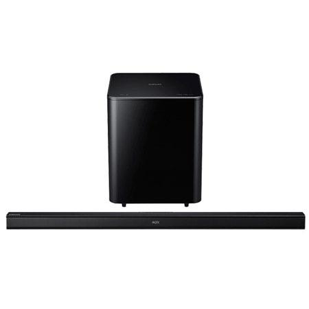 Samsung HW H Channels Home Theater Wireless Soundbar System W Total Power Bluetooth Crystal Amp Pro  296 - 91