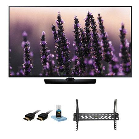 Samsung UNH Class Full p HD LED TV Bundle Xtreme Cables Tilt Swivel Wall Mount Kit Supplied Steel Wa 293 - 506