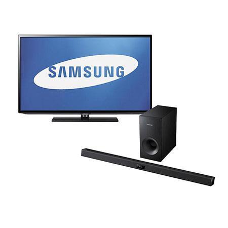 Samsung Class LED HDTV p Resolution Bundle Samsung HW F Channel Soundbar System Subwoofer 49 - 135