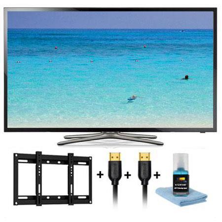 Samsung UNF p Hz LED Smart TV Bundle Xtreme Cables HDTV Slim Mounting Kit 274 - 255
