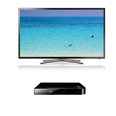 Samsung UNF p Hz LED Smart TV Bundle Samsung BD F Blu ray Disc Player 45 - 774
