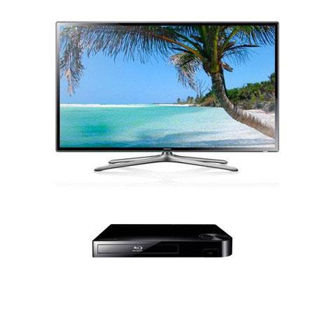 Samsung UNF p Hz LED TV Bundle Samsung BD F Blu ray Disc Player 196 - 39