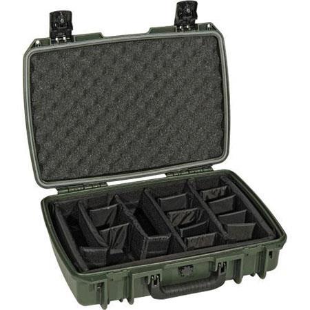 Pelican Storm iM Case Watertight Padlockable Case Padded Divider Interior Olive Drab 219 - 608