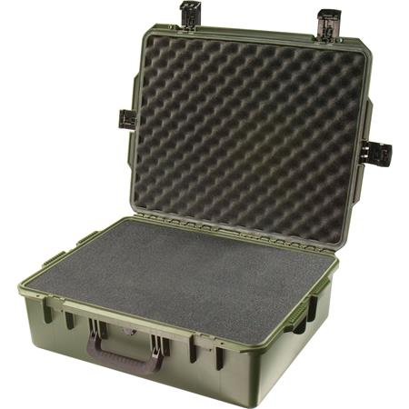 Pelican Storm iM Case Watertight Padlockable Case Multilayer Cubed Foam Interior Olive Drab 112 - 736