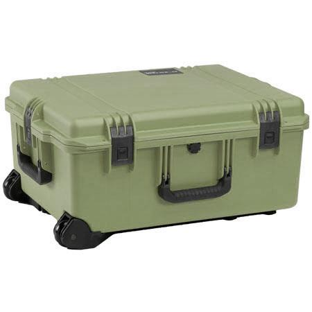Pelican Storm iM Case Wheels Watertight Padlockable Case Padded Divider Interior Olive Drab 98 - 46