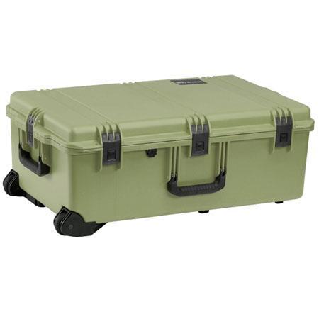 Pelican Storm iM Case Wheels Watertight Padlockable Case No Foam or Divider Interior Olive Drab 181 - 461