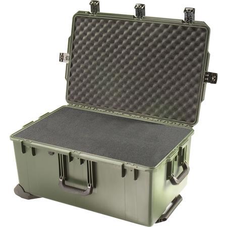 Pelican Storm iM Case Wheels Watertight Padlockable Case Multilayer Cubed Foam Interior Olive Drab 102 - 12