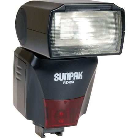 Sunpak PZXN Digital Flash Nikon I TTL Flash Control Mode Guide Number of ISO feet  114 - 186