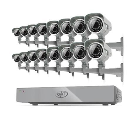 SVAT Electronics Ch H GB Smart Security DVR Ultra Hi Res Outdoor Surveillance Cameras Night Vision 104 - 303