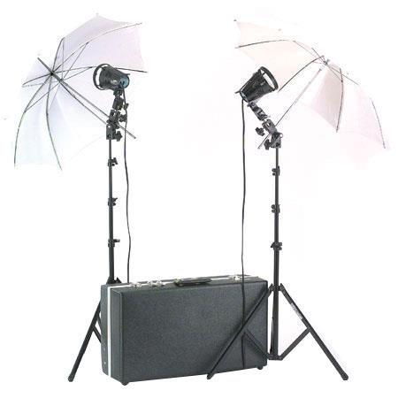 Smith Victor KU A SG Quartz Light Watt Umbrella Location Kit Attache Carrying Case 120 - 676