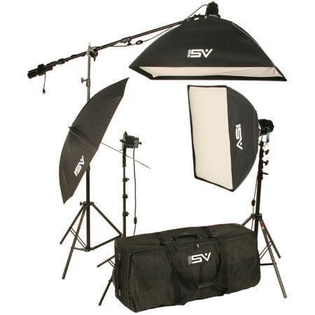 Smith Victor K Watt Professional Quartz Studio Lighting Kit SG UM Lights Softboxes Boom Arm Stands C 44 - 120